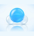 water molecule isolated on light vector image vector image