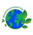 world environment day sign vector image vector image