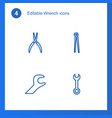 wrench icons vector image vector image