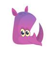 cartoon rhino head vector image