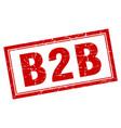 b2b square stamp vector image