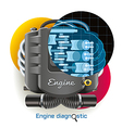 Engine Diagnostic vector image