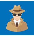 Flat Detective icon - Professions icons vector image
