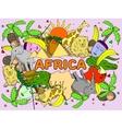 Africa line art vector image vector image