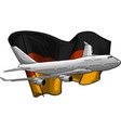 airplane with german flag vector image vector image