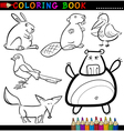 Animals for Coloring Book or Page vector image vector image