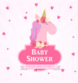 bashower with unicorn invitation vector image