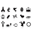 Black easter icons set vector | Price: 1 Credit (USD $1)