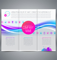 Business emplate leaflet page design vector image