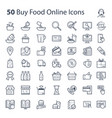buy food online icons vector image vector image