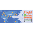 Cheap Flights Advertising 1500x600 Pixel Banner vector image