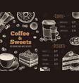 coffee menu house bar or cafe menu design vector image vector image