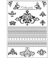 collection calligraphy borders and ornaments vector image vector image