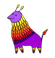 colorful fantasy decorative animal character vector image vector image