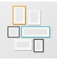 Colorful Picture Frame Template Set vector image vector image
