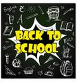 comic pop art text - back to school background vector image vector image