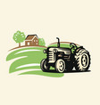 country with tractor vector image vector image
