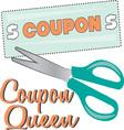 Coupon Queen vector image vector image