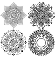 doodle mandala vector image vector image