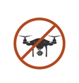 Drone Warning Icon Silhouette Prohibit Air vector image vector image