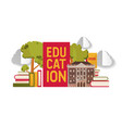 education banner poster pile vector image