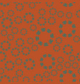 ethnic floral seamless pattern on brown vector image vector image