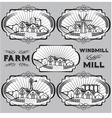 farm rural landscape vector image