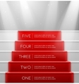 Five steps vector image vector image
