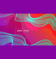 fluid shapes composition for web vector image vector image