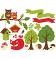 Forest Set vector image vector image