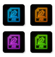 glowing neon ai file document icon download ai vector image vector image