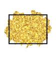 gold brush stroke in black frame isolated white vector image vector image