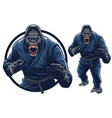 gorilla mascot and for martial arts eventgym vector image vector image