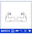 gym icon flat vector image vector image