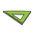 hand drawn ruler triangle doodle icon vector image vector image