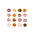 hanukkah doughnut jewish holiday symbol sweet vector image vector image