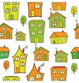 houses seamless vector image