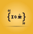i love coffee quotation mark speech bubble vector image vector image
