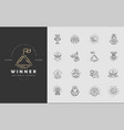 icon and logo winner and champion editable vector image vector image