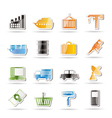 Industry and business icons vector | Price: 1 Credit (USD $1)