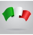 Italian waving Flag vector image