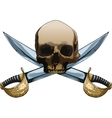 Jolly Roger with swords vector image vector image