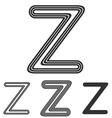 Line z letter logo design set vector image vector image