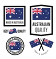 Made in Australia label set vector image vector image