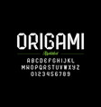 modern origami style font vector image vector image