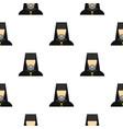 orthodox priest pattern flat vector image vector image