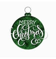 paper sheet with clipped christmas ornament vector image