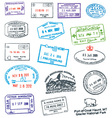 Passport stamp vector | Price: 1 Credit (USD $1)