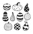 pumpkins with patterns vector image vector image