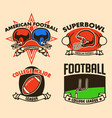 raw drawing american football label vector image vector image